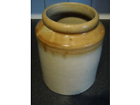 Antique glazed stoneware jar