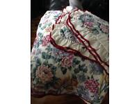 Vintage floral bed cover