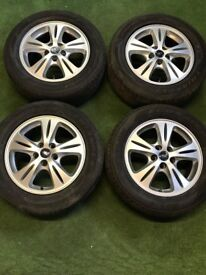 """FORD C-MAX, S-MAX, TRANSIT CONNECT, GALAXY, FOCUS 16"""" ALLOY WHEELS SILVER"""