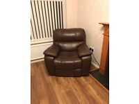 Electronic real leather Brown color sofas armchairs one seater sofa, good function