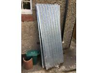Galvanised corrugated steel roofing sheets x7