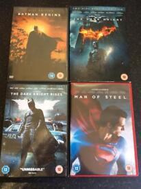 Batman / Superman DVDs / films X4