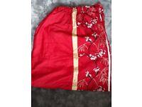 Red curtains Next signature