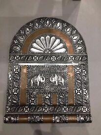 Elephant & Floral Design Key Hook & Mail slot