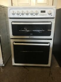 Hotpoint electric cooker C367EWH 60cm double oven 3 months warranty free local delivery!!!!
