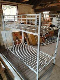 Sturdy single metal bunk bed