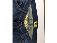 Draggin motorbike female jeans slimt fit, kevlar and impact protections