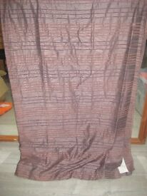 """PAIR OF BROWN CURTAINS FULLY LINED 64"""" WIDE X 90"""" DROP"""