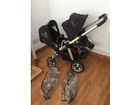 Icandy Pear double converts to single pushchair excellent condition