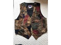 Men's Genuine Patched Leather Waistcoat for sale Size XL €45