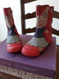 Girls Clark boots size 7f