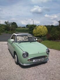 Emerald Green Nissan Figaro For Sale