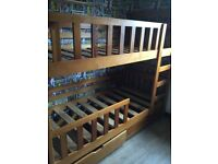 Bunk beds with under bed storage draws
