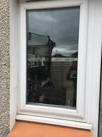 UPVC window white