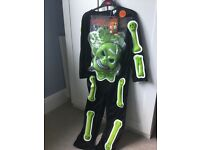 Brand New Boys Skeleton With Mask Fancy Dress 7-8Y