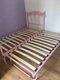 Single bed with guest bed