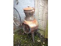 Pot bellied cast iron chimenea / log burner £20