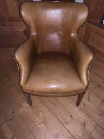 Beautiful tan leather chair