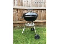 Weber 47cm Compact Kettle Barbecue, waterproof cover included, used in excellent condition