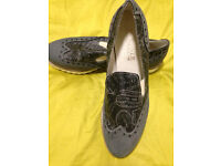 NEW, Italian Leather Shoes/Loafers 7.5, Women's