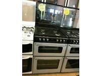 STOVES 60CM GAS DOUBLE OVEN COOKER IN SILVER