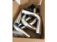 Intercooler pipe work