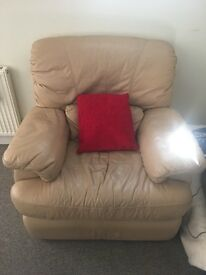 Leather Recliner, £40, collection only 🙂
