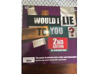 Would I lie to you board game in perfect condition