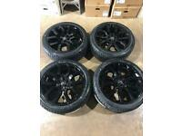 "Set of 22"" genuine Range Rover alloy wheels with brand new tyres ."