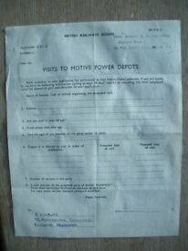 BRITISH RAILWAYS (Scotland) JULY c.1970 Visit to Motive Power Depots Permission