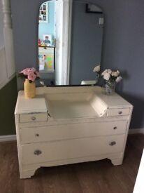 Cream coloured Vintage dressing table