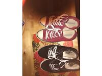 Vans and converse trainers size 5