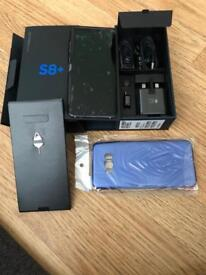 Samsung s8+ brand new 63gig EE with case n screen protector