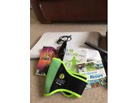 Wii console + Wii fit + games and Zumba belt