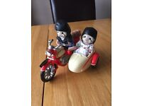 Sylvanian Families Motor Cyle and Side Car with Figures