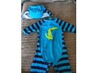Boys 12-18 months all in one swimsuit