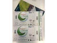 2 tickets England v Pakistan 2nd ODI Cricket match @ Lord's 27th Aug - Upper Compton Stand