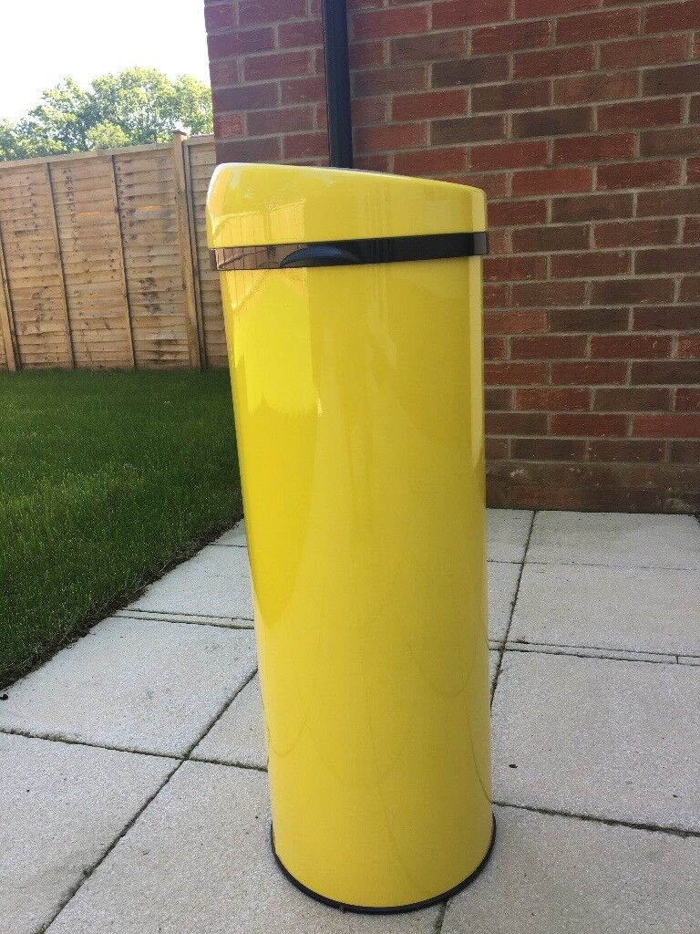 Made touch free 50L bin yellow.