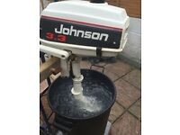 Johnson 3.3 hp short shaft outboard engine just serviced!