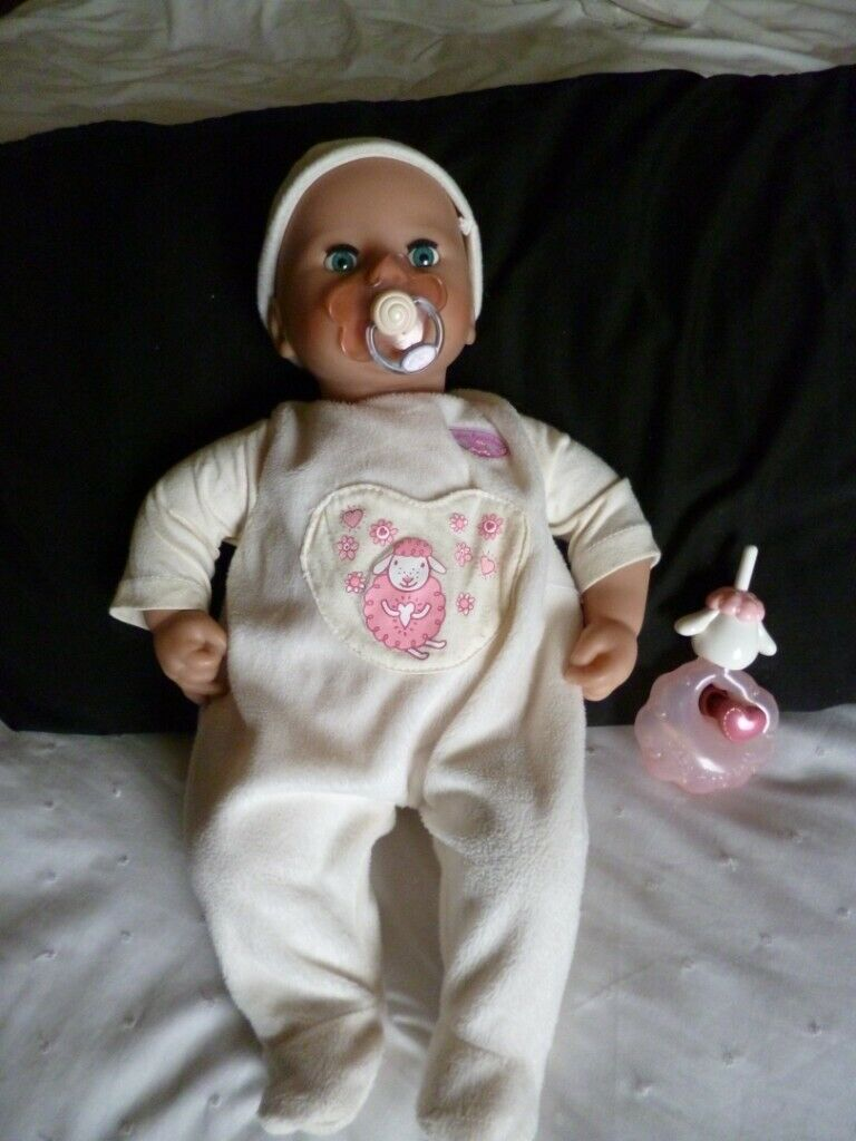 Baby Annabell interactive Doll/Bottle/Dummy Makes baby ...