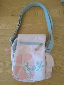 Animal Small Grey Handbag With Adjustable Strap And Multiple Pockets Excellent Condition