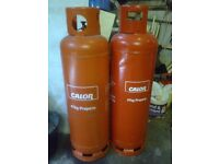 Calor gas 47kg propane cylinders (both empty)