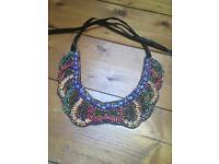 Spanish boutique statement necklace brand new