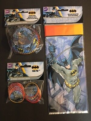 Batman cupcake liners toppers and treat bags party bundle lot - Batman Cupcake Liners