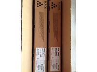 X2 -TWO RICOH MP C5000E GENUINE BLACK PRINT C