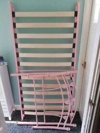 Pink child's bed