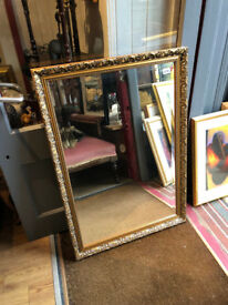 Gold Framed Mirror - Size W 28in L 40in