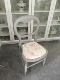 Shabby Chic Vintage Chair with faded floral seat