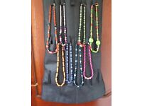 EIGHT NECKLACES MADE FROM GOOD QUALITY BEADS - VARIOUS COLOURS AND SIZES AS PICTURE SHOWS