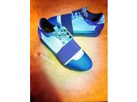 Balenciaga Runners Uk Size 8 Blue - Brand New Fully Boxed